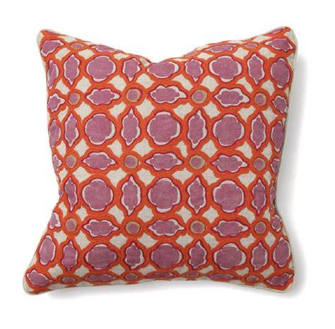 Villa Pillow by Villa Accent Pillow 18 X 18 Balance Pink Orange 59 25