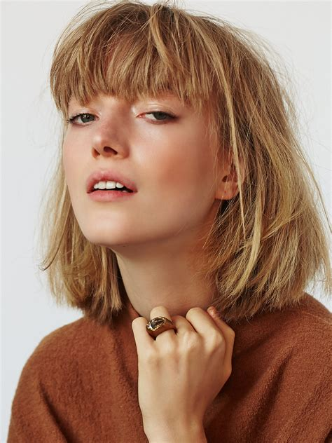 long choppy bob with fringe cute hair style inspo choppy bob with bangs love