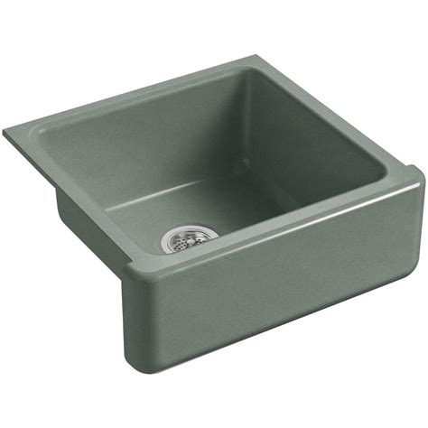 Kohler Farmhouse Kitchen Sink Kohler Whitehaven Undermount Farmhouse Apron Front Cast Iron 24 In Single Basin Kitchen Sink In