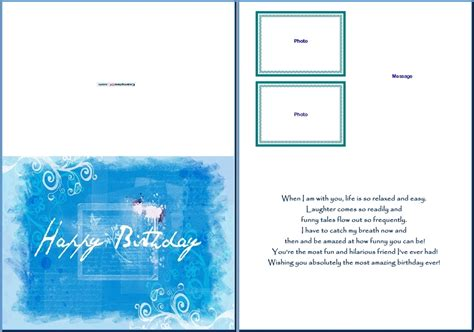 Email Card Template Microsoft by Greeting Card Template Word Beepmunk