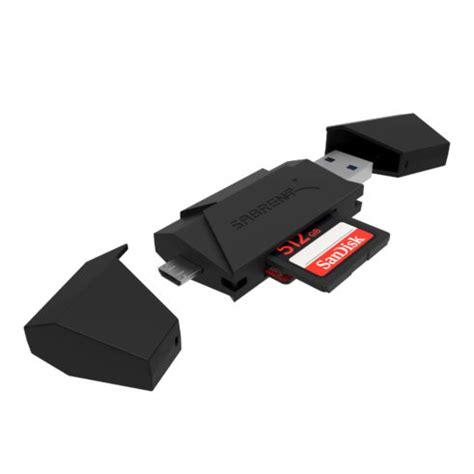 Otg Usb Card Reader Slot sabrent 2 slot micro usb otg and usb 3 0 flash memory card