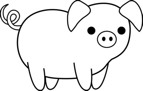 pig clipart black and white farm animals clipart piggy pencil and in color farm