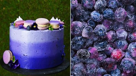 hacks  amazing ombre blueberry cake easy homemade