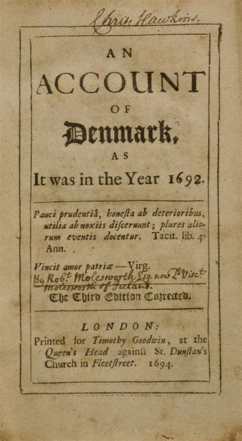 wrestliana or an historical account of ancient and modern classic reprint books an account of denmark as it was in the year 1692 bound
