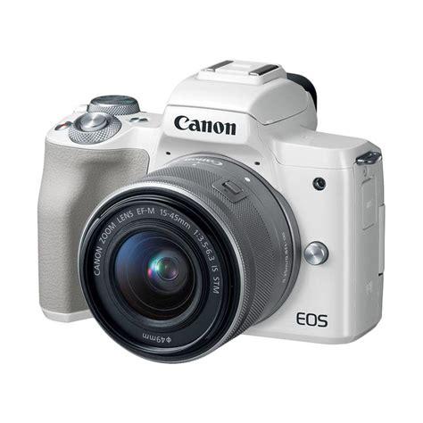 Kamera Canon White jual pre order canon eos m50 kit 15 45mm kamera