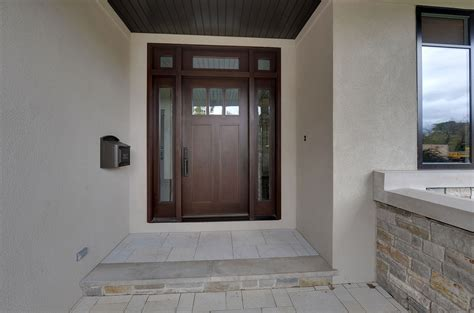 Exterior Door With Transom Craftsman Front Entry Doors In Chicago Il At Glenview Haus