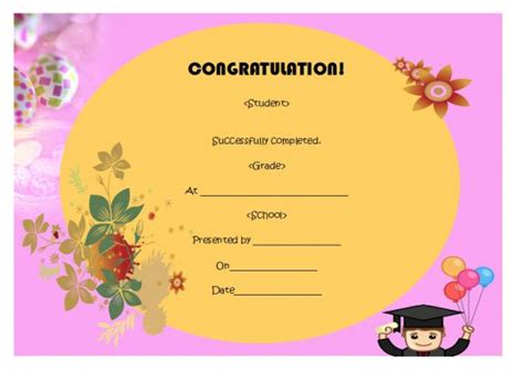 5th grade graduation certificate template 24 printable