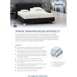 Tempur Pedic Bed King Size Cost Tempur Sensation Deluxe 27 King Size Mattress At The