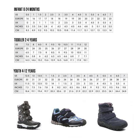 shoe size chart geox geox jr himalaya abx comfort clinic oakville