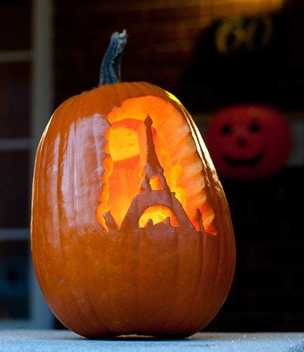 Pumpkin Tower Decoration by Use An Artificial Craft Pumpkin Painted Black Then Carve