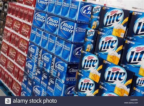 costco bud light 36 pack price budweiser bud light and miller lite on display at a