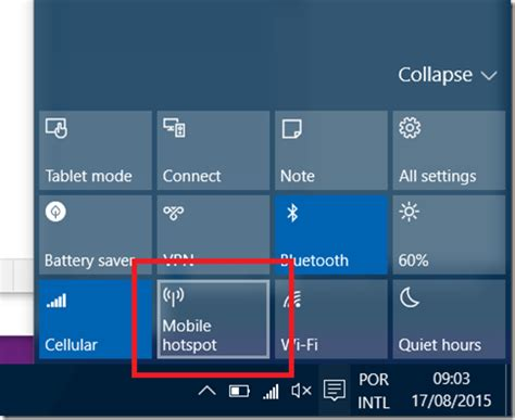 is it possible to turn window into a door the on windows 10 with quot mobile hotspot