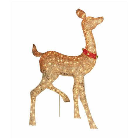 animated outdoor reindeer animated lighted reindeer family set 3 yard decoration outdoor billingsblessingbags org