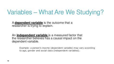 exle of dependent variable exles of research methods h ighschool