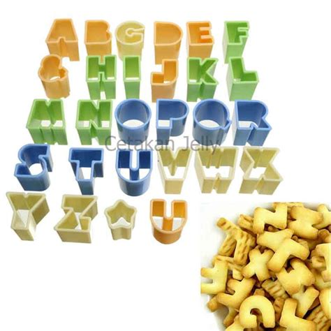 Cookie Cutter Angka cetakan cookie cutter alphabet set 28 pcs cetakan jelly cetakan jelly