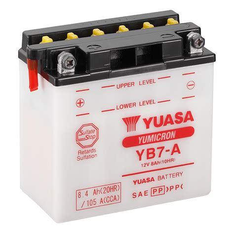 Motorrad Batterie Gewicht by Yuasa Yb7 A 12v Motorbike Motorcycle Battery Www