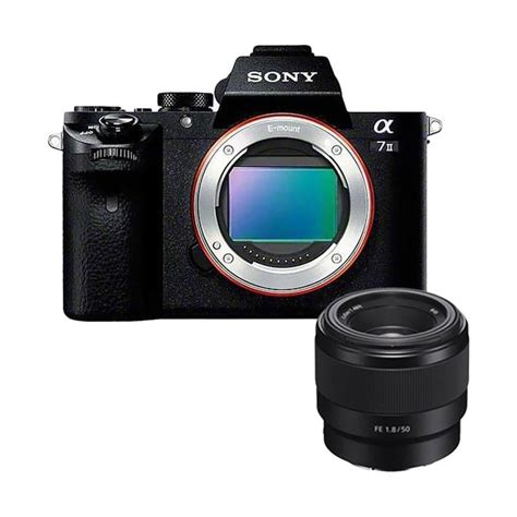 Kamera Sony A7 Mirrorless jual sony alpha a7 ii ilce 7m2 kamera mirrorless with sony fe 50mm f1 8 lensa kamera