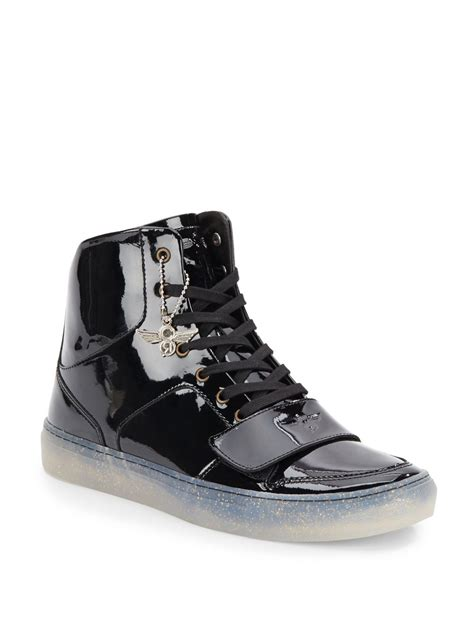 creative sneakers creative recreation patent leather high top sneakers in