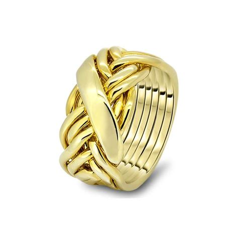 mens gold 7wrd m puzzle rings creations