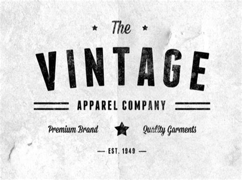 vintage logo design photoshop tutorial 25 free retro and vintage style resources textures icons
