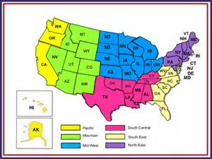 us map with capitals and regions my state capitals south central region