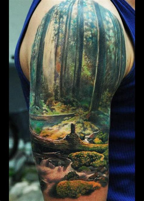 scenic tattoo designs pictures half sleeve tattoos for scenery half