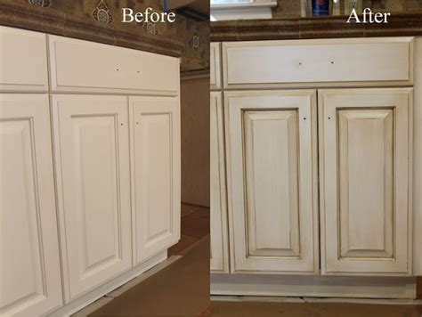 glazing kitchen cabinets before and after how to paint antique white kitchen cabinets step by step