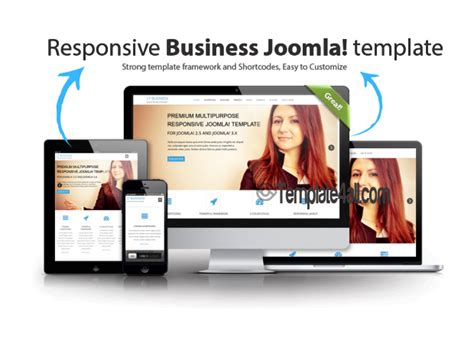 responsive business creative joomla template wt priv free jd newjersey blue joomla 3 template download