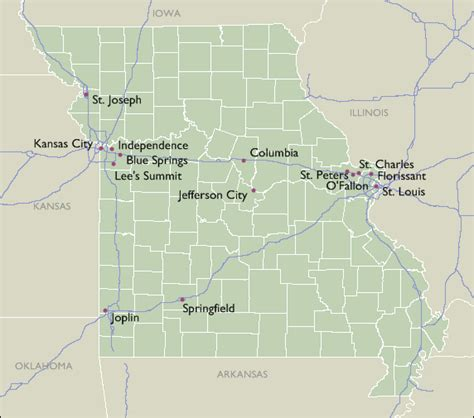 zip code map missouri city zip code maps of missouri