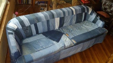 recycled denim sofa covers recycled things