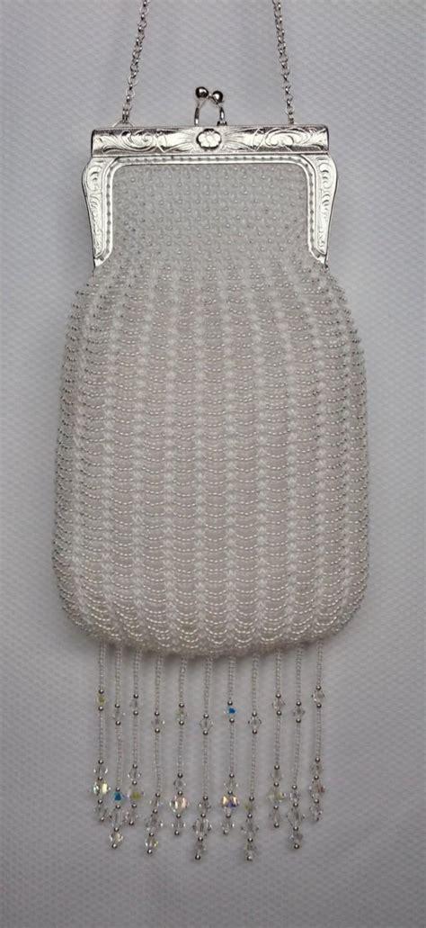 knitted purses wedding purse beaded bridal purse unique bridal purse
