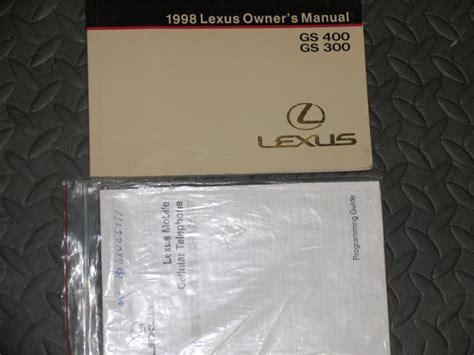 service manual 1998 lexus gs free online manual 98 1998 lexus gs400 gs300 owners manual ebay