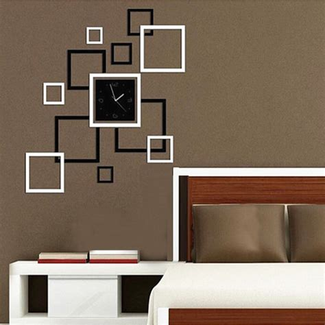 home decor sticker buy diy mirror wall clock sticker modern frame sticker