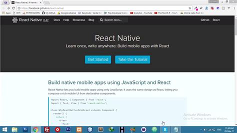 react native tutorial youtube install react native run on genymotion react native