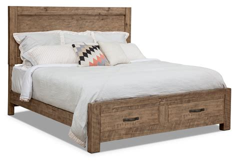 griffith king panel bed with storage footboard the brick
