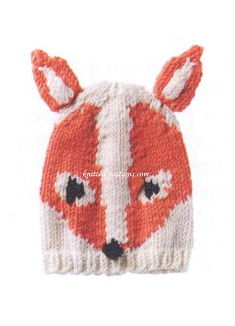 knitted fox hat knitted fox hat