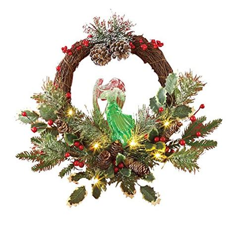 fiber optic christmas wreath pre lit fiber optic color changing evergreen 15 quot wreath price findsimilar