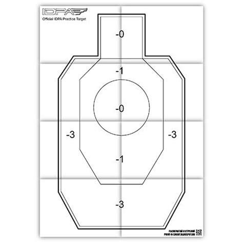 printable mini idpa targets printable idpa practice target free printable shooting