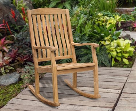 Outdoor Patio Rocking Chairs by Garden Rocking Chair Teak Outdoor Patio Rocker
