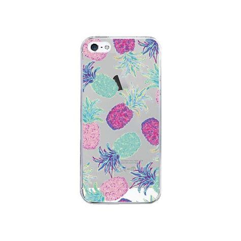 Sh103 Iphone 5 5s Fruit coque ananas pineapple fruit ete summer transparente pour
