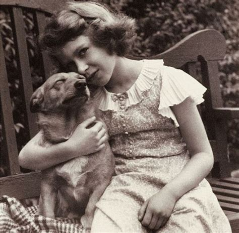 queen elizabeth dog young queen elizabeth ii with her corgie dookie