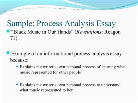 process analysis thesis statement exles process analysis pp engl 002 12