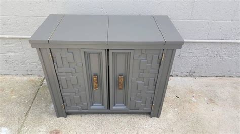 flip top bar cabinet brutalist flip top bar cabinet at 1stdibs