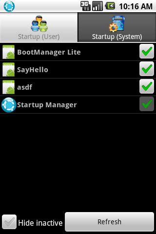android startup manager startup manager free android app android freeware