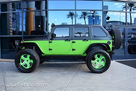Neon Green Jeep Lime Green Jeep Wrap Wrapfolio