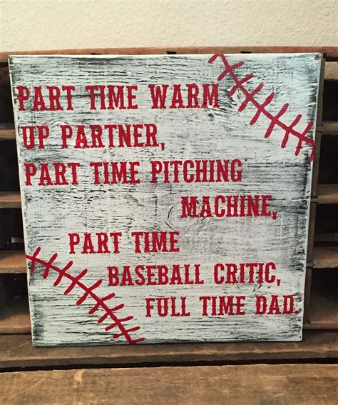 baseball sign baseball dad fathers day warm  partner