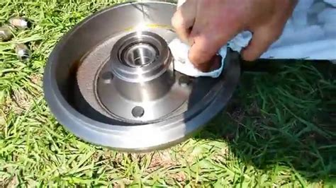 ford focus wheel bearing spindle replace rear youtube