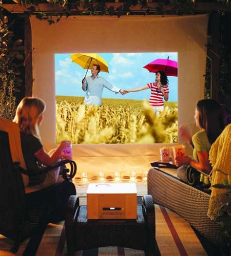 backyard movie night projector 38 best outdoor movie screen diy cinema outdoor ideas
