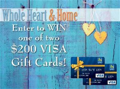 200 Visa Gift Card - contest win 1 of 2 200 visa gift cards