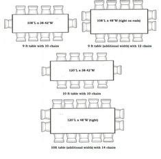 dining room size  dimensions images dining